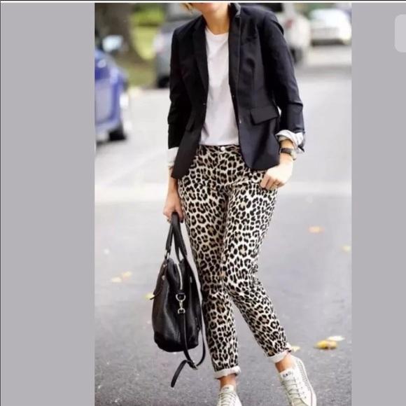 kate spade Denim - Kate Spade Leopard Jeans 24 NWT